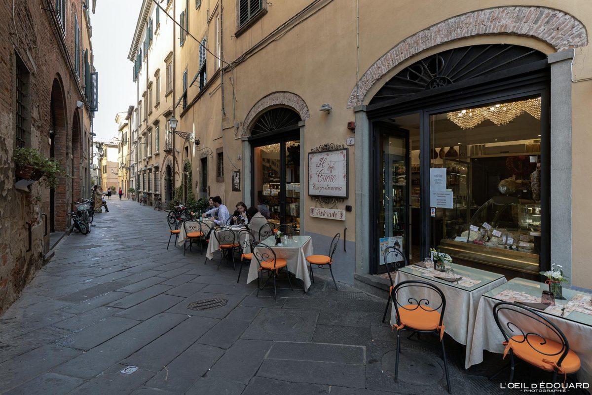 Restaurant Lucques Toscane Italie Voyage Tourisme - Ristorante Il Cuore Via del Battistero Lucca Toscana Italia Travel Italy Tuscany