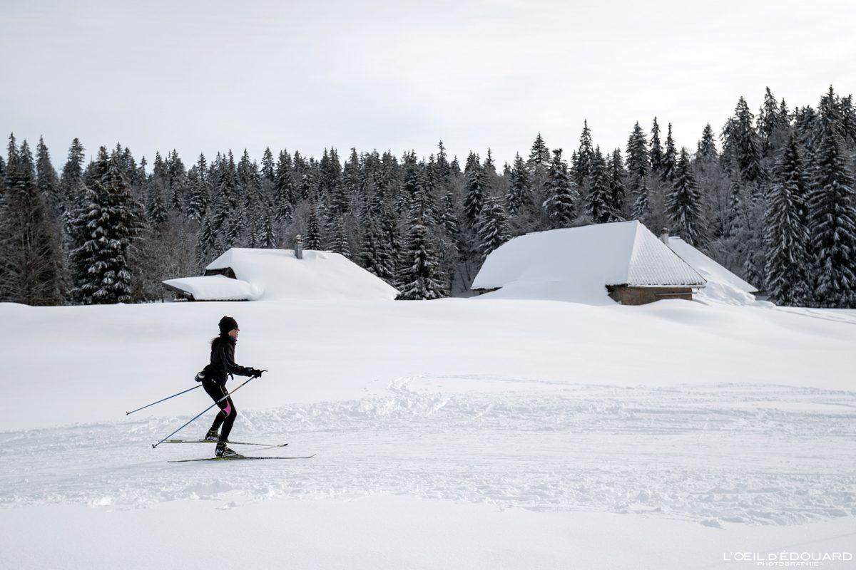 Ski de Fond Le Revard Chalets Gralette Massif des Bauges Savoie Alpes Paysage Montagne Hiver Neige France Outdoor snow winter French Alps Mountain Landscape
