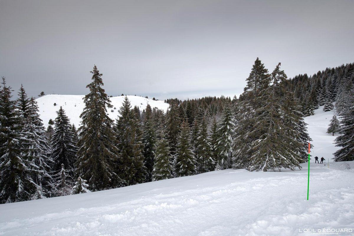 Randonnée Raquettes Croix des Bergers Le Revard Massif des Bauges Savoie Alpes Paysage Montagne Hiver Neige France Outdoor snow winter French Alps Mountain Landscape