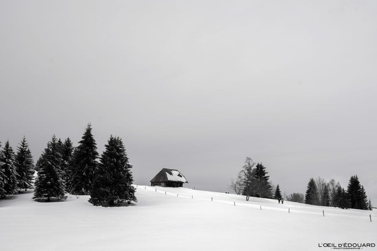 Chalet Croix des Bergers Le Revard Massif des Bauges Savoie Alpes Paysage Montagne Hiver Neige France Outdoor snow winter French Alps Mountain Landscape