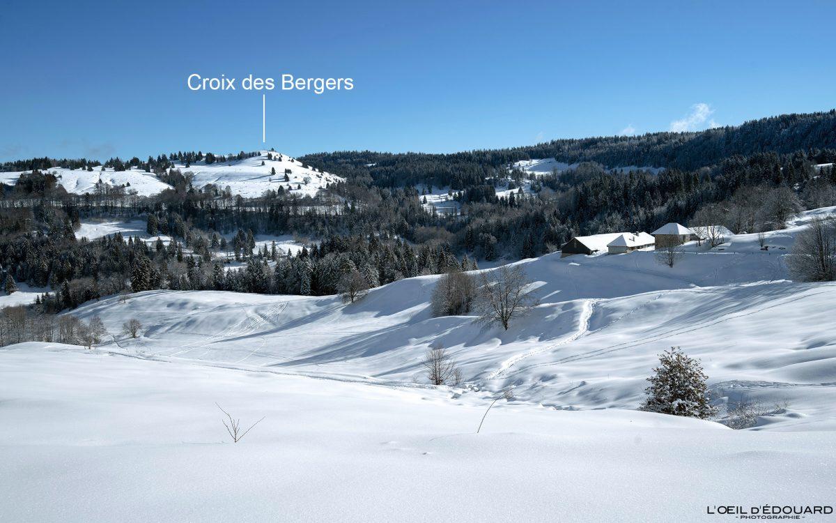 Randonnée Raquettes Croix des Bergers Le Revard Massif des Bauges Savoie Alpes Paysage Montagne Hiver Neige France Outdoor French Alps Mountain Landscape Winter Snow