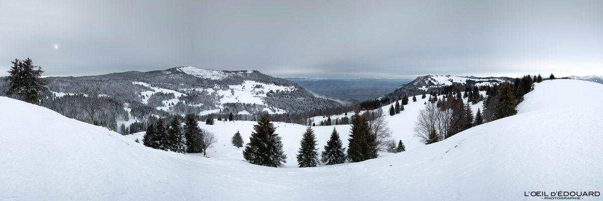 Croix des Bergers Randonnée Raquettes Le Revard Massif des Bauges Savoie Alpes Paysage Montagne Hiver Neige France Outdoor snow winter French Alps Mountain Landscape