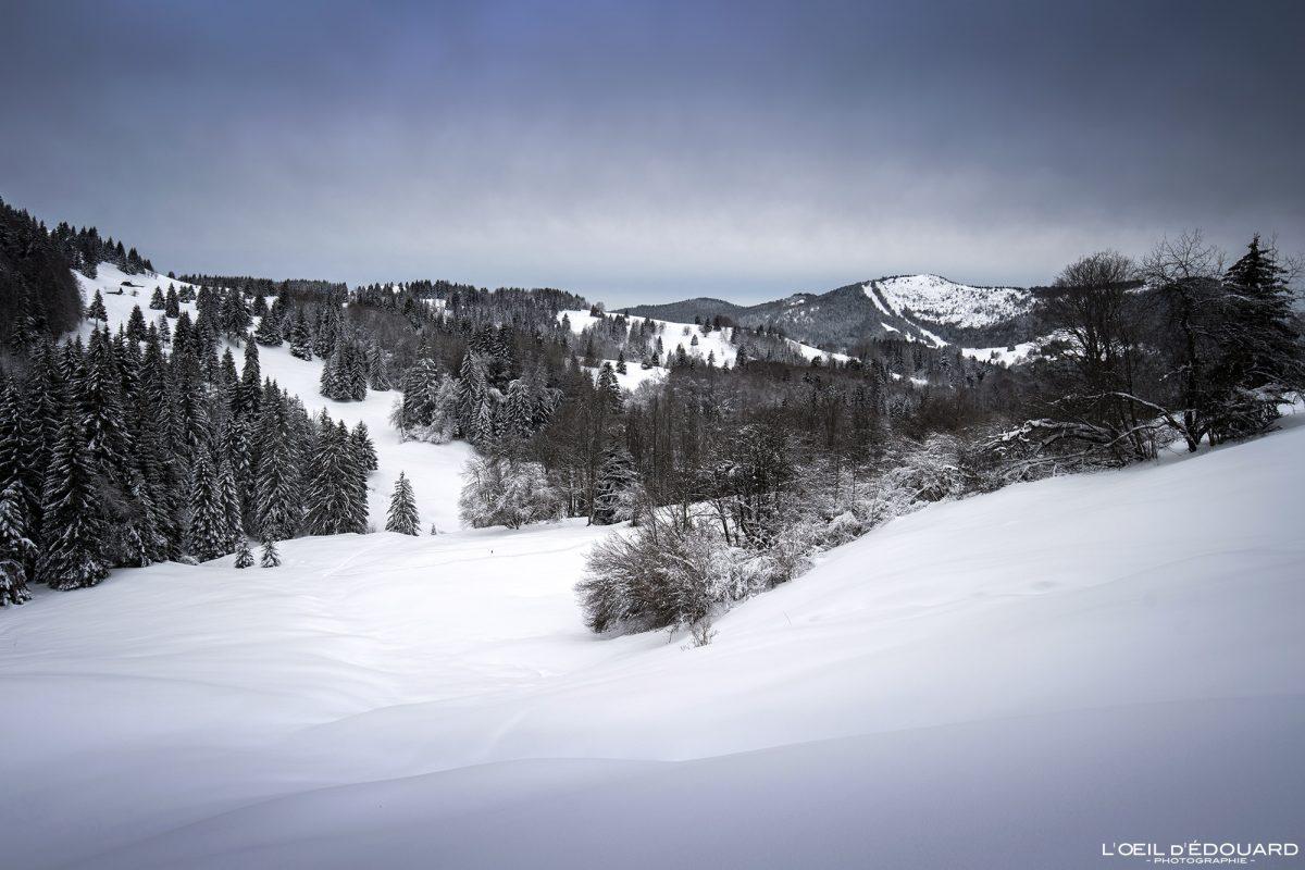 Les Otalets Randonnée Raquettes Le Revard Massif des Bauges Savoie Alpes Paysage Montagne Hiver Neige France Outdoor French Alps Mountain Landscape Winter Snow