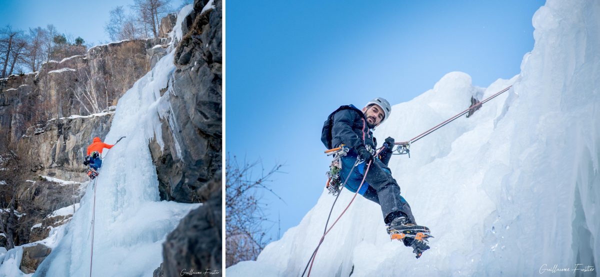 Alpinisme Cascade de Glace Ice Pocalypse Freyssinière Tête de Gramusat Massif des Écrins Hautes-Alpes Alpes France Montagne Hiver Outdoor Ice Climbing Mountaineering French Alps Mountain Winter