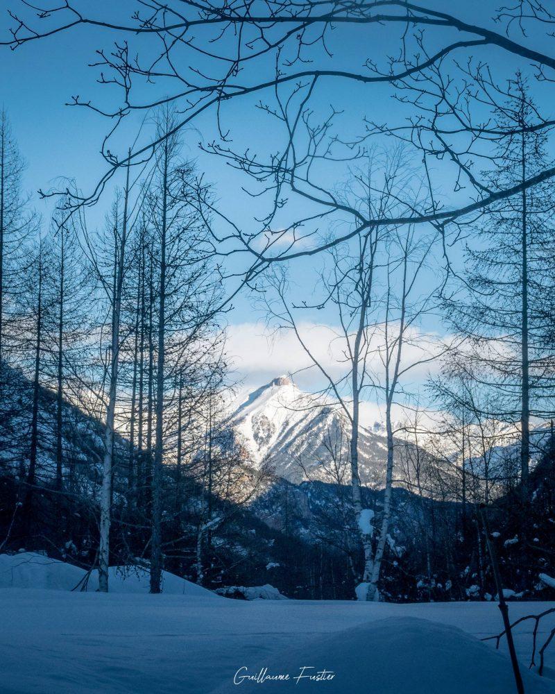 Vallon de Freyssinière, Tête de Gramusat Massif des Écrins Hautes-Alpes Alpes France Paysage Montagne Hiver Outdoor French Alps Mountain Landscape Winter