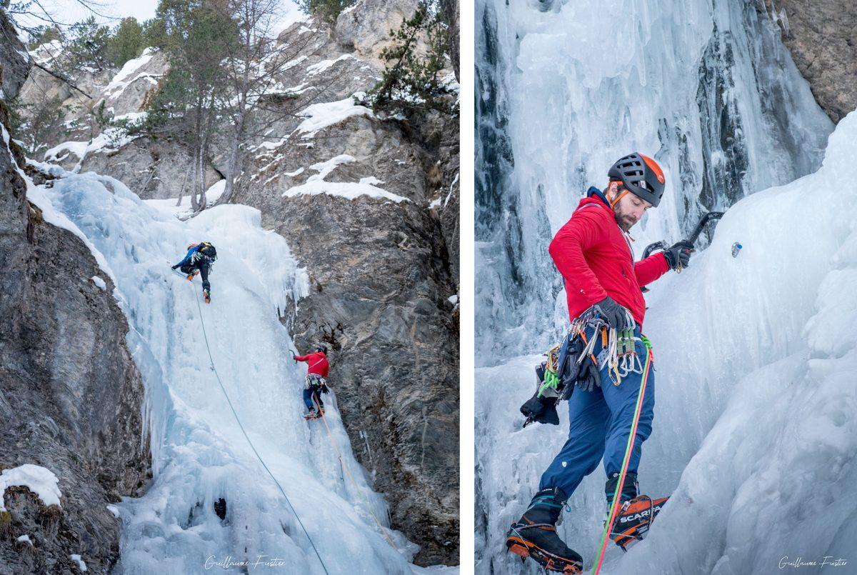 Alpinisme Cascade de Glace Y de Ceillac Massif du Queyras Hautes-Alpes Alpes France Montagne Hiver Outdoor Ice Climbing Mountaineering French Alps Mountain Winter