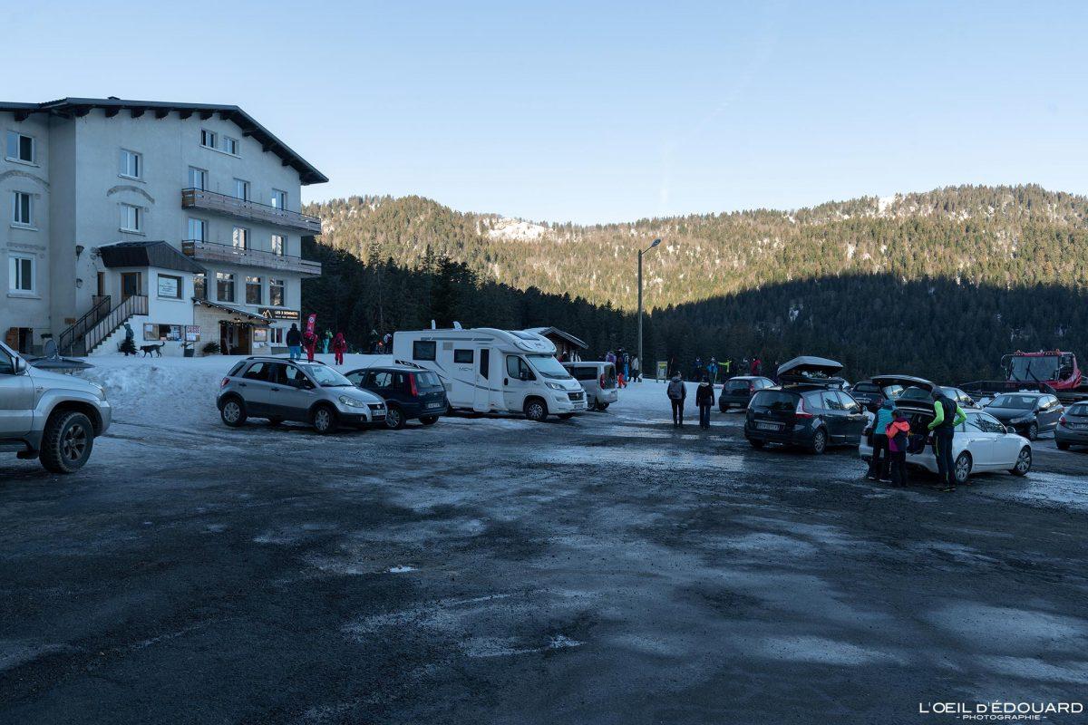 Parking Les 2 Sommets Col de Porte Massif de la Chartreuse Isère Alpes Paysage Montagne Hiver Neige France Outdoor French Alps Mountain Landscape Winter Snow