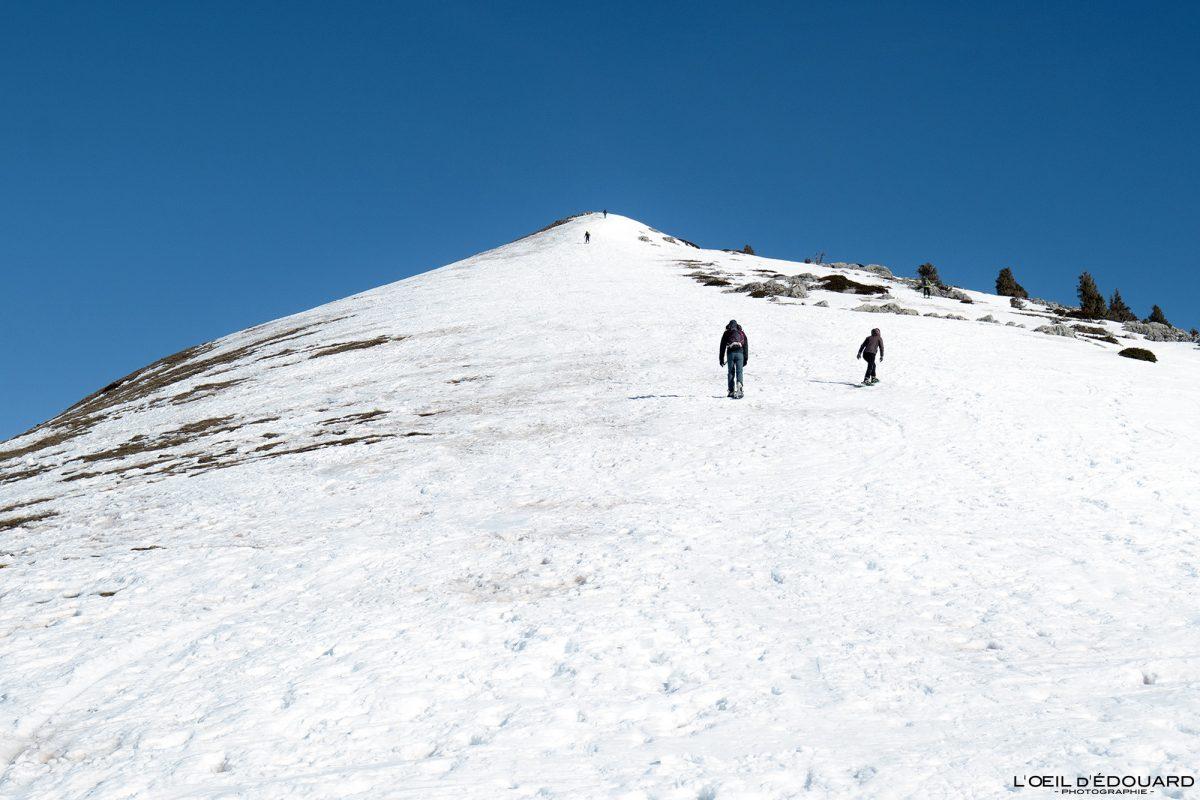 Randonnée Raquettes Charmant Som en hiver Massif de la Chartreuse Isère Alpes Paysage Montagne Neige France Outdoor French Alps Mountain Landscape Winter Snow Hiking