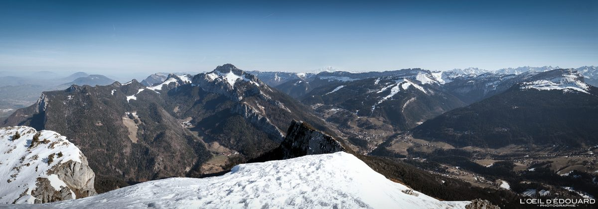 Massif de la Chartreuse depuis le Charmant Som Isère Alpes Paysage Hiver Montagne Neige France Outdoor French Alps Mountain Landscape Winter Snow Skiing Ski Touring