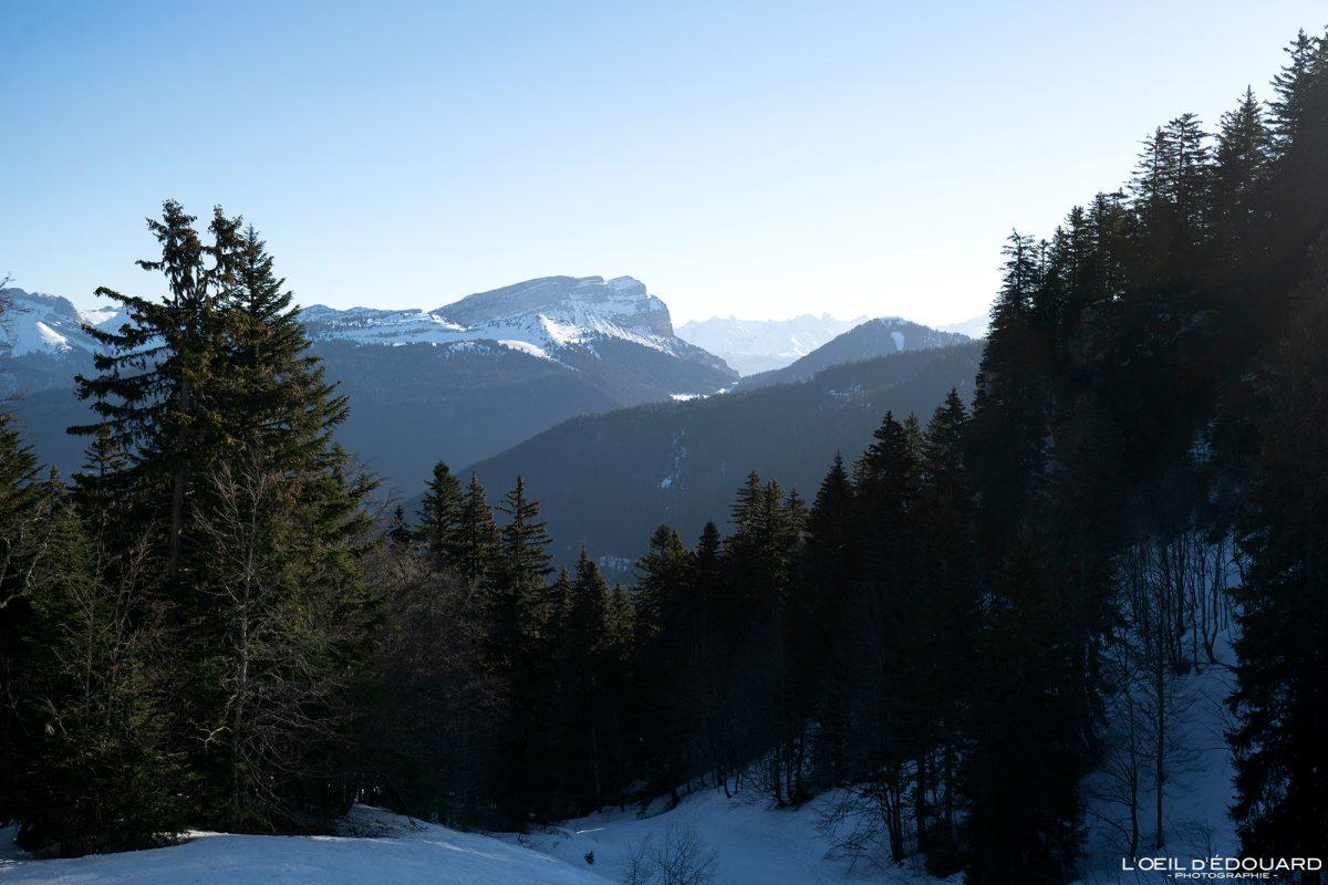Dent de Crolles en hiver Massif de la Chartreuse Isère Alpes Paysage Montagne Neige France Outdoor French Alps Mountain Landscape Winter Snow