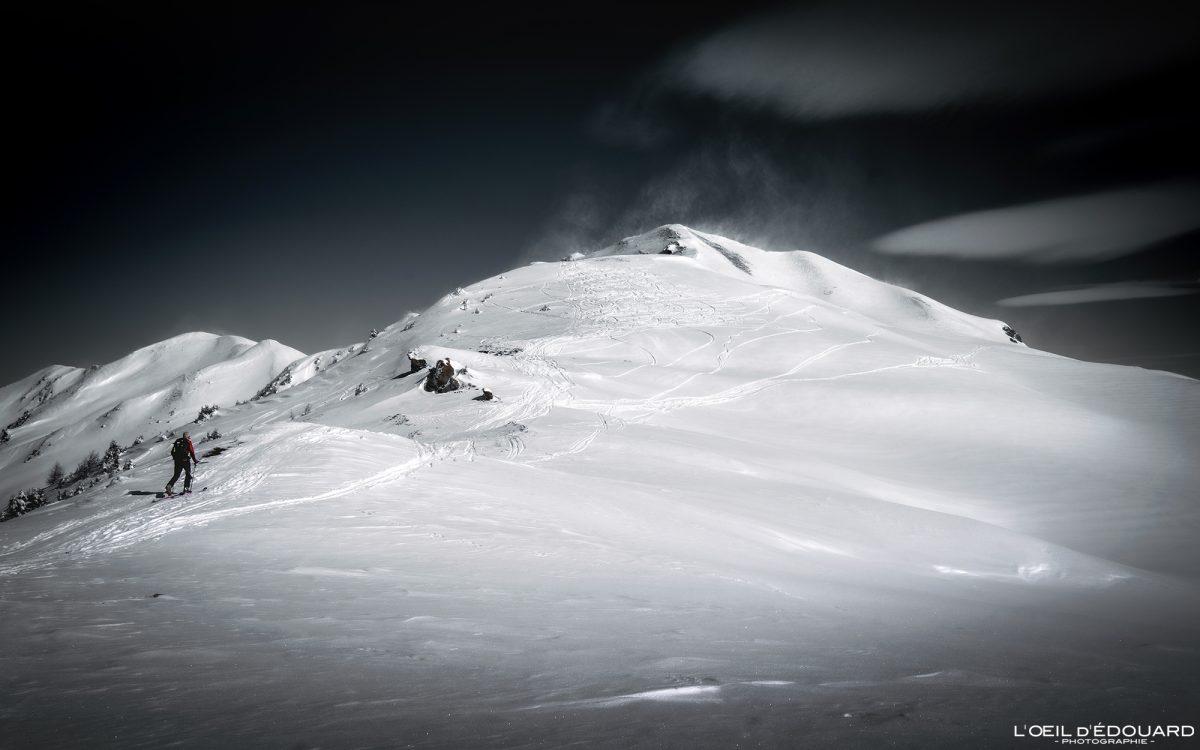 Ski de randonnée Le Quermoz Massif du Beaufortain Savoie Alpes Paysage Montagne Hiver Neige France Outdoor French Alps Mountain Landscape Winter Snow Ski touring