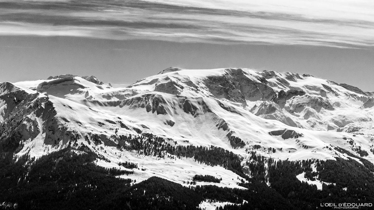 Glaciers de la Vanoise vus depuis Le Quermoz Massif du Beaufortain Savoie Alpes France Paysage Montagne Ski de randonnée Hiver Neige Outdoor French Alps Mountain Landscape Winter Snow Ski touring