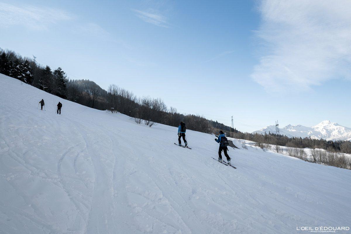Ski de randonnée Grand Naves Massif du Beaufortain Savoie Alpes Paysage Montagne Hiver Neige France Outdoor French Alps Mountain Landscape Winter Snow Ski touring