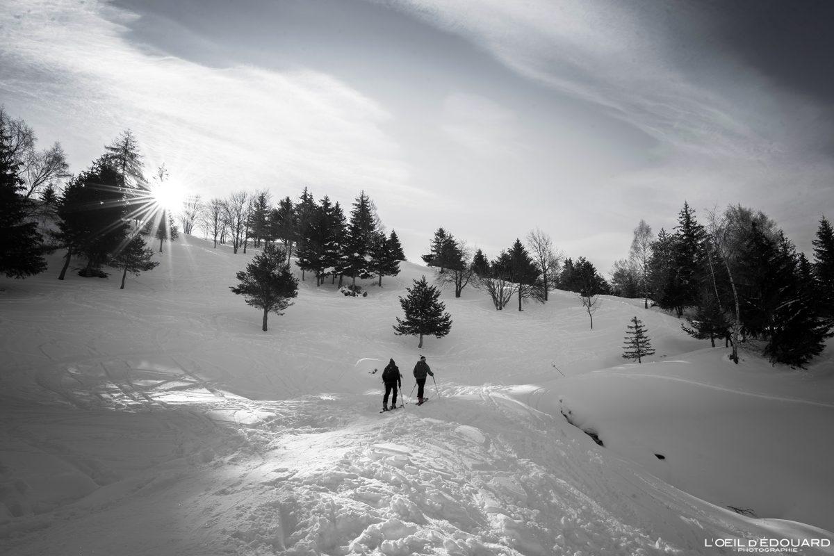 Ski de randonnée Le Quermoz depuis Grand Naves Massif du Beaufortain Savoie Alpes Paysage Montagne Hiver Neige France Outdoor French Alps Mountain Landscape Winter Snow Ski touring
