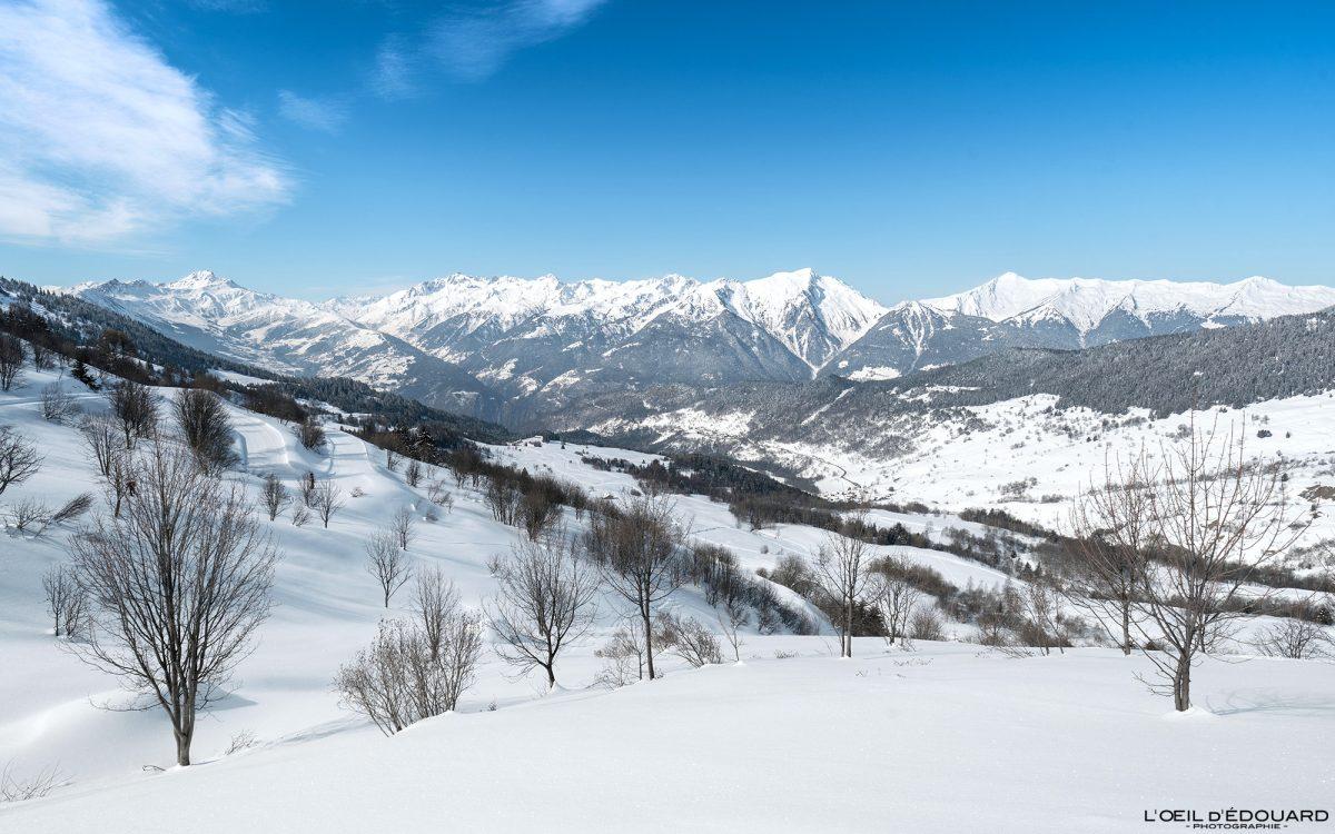 Grand Naves Massif du Beaufortain Savoie Alpes Paysage Montagne Hiver Neige France Outdoor French Alps Mountain Landscape Winter Snow Ski