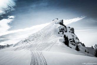 Roche Parstire en ski de randonnée Massif du Beaufortain Hiver Savoie Alpes Paysage Montagne Neige France Outdoor French Alps Mountain Landscape Winter Snow Ski touring