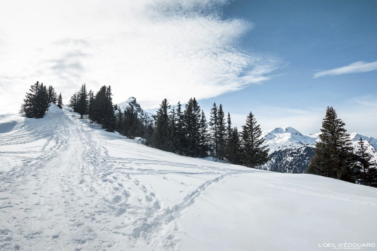 Ski de Randonnée Roche Parstire Massif du Beaufortain Savoie Alpes Paysage Montagne Hiver Neige France Outdoor French Alps Mountain Landscape Winter Snow Ski touring