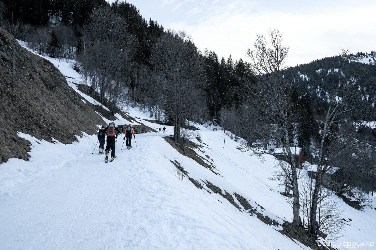 Ski de Randonnée Route du Col du Pré Boudin Massif du Beaufortain Savoie Alpes Paysage Montagne Hiver Neige France Outdoor French Alps Mountain Landscape Winter Snow Ski touring