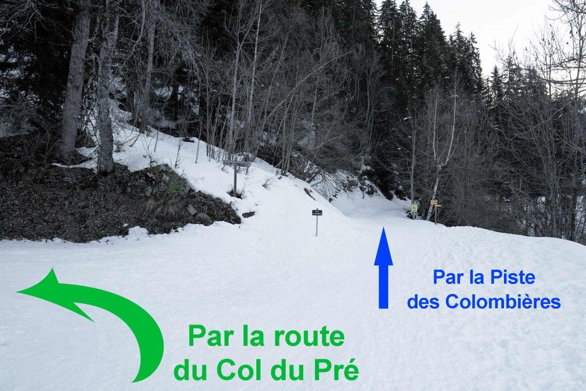 Route du Col du Pré Boudin Massif du Beaufortain Savoie Alpes Paysage Montagne Hiver Neige France Outdoor French Alps Mountain Landscape Winter Snow