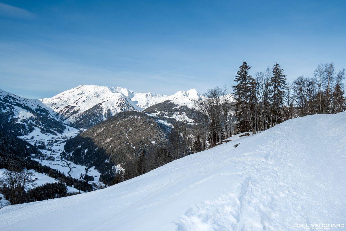 Route du Col du Pré Massif du Beaufortain Savoie Alpes Paysage Montagne Hiver Neige France Outdoor French Alps Mountain Landscape Winter Snow