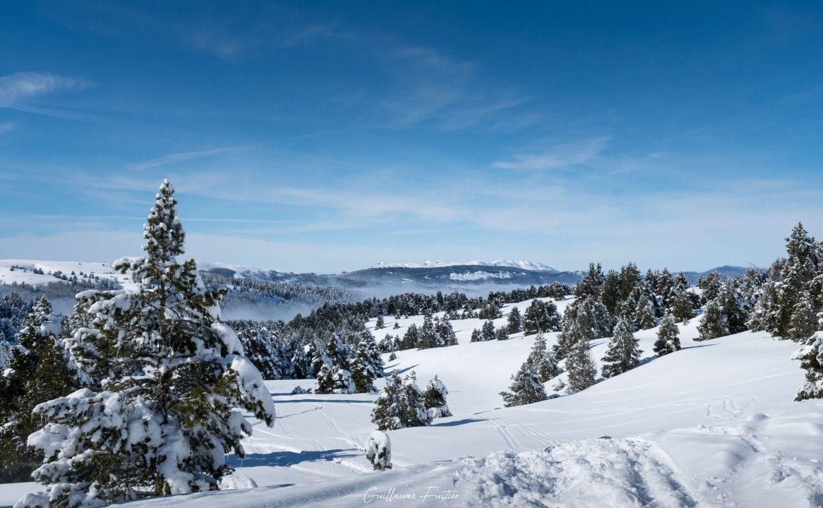 Hauts-Plateaux du Vercors Hiver Neige Paysage Montagne Isère Alpes France Outdoor French Alps Mountain Landscape Winter Snow