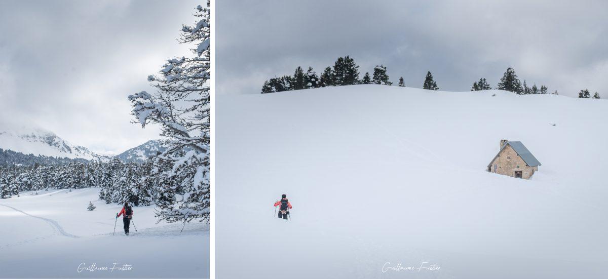 Cabane de la Jasse du Play Grande Traversée Hauts-Plateaux du Vercors à ski Hiver Neige Paysage Montagne Isère Alpes France Outdoor French Alps House Mountain Landscape Winter Snow Wild Ski Touring