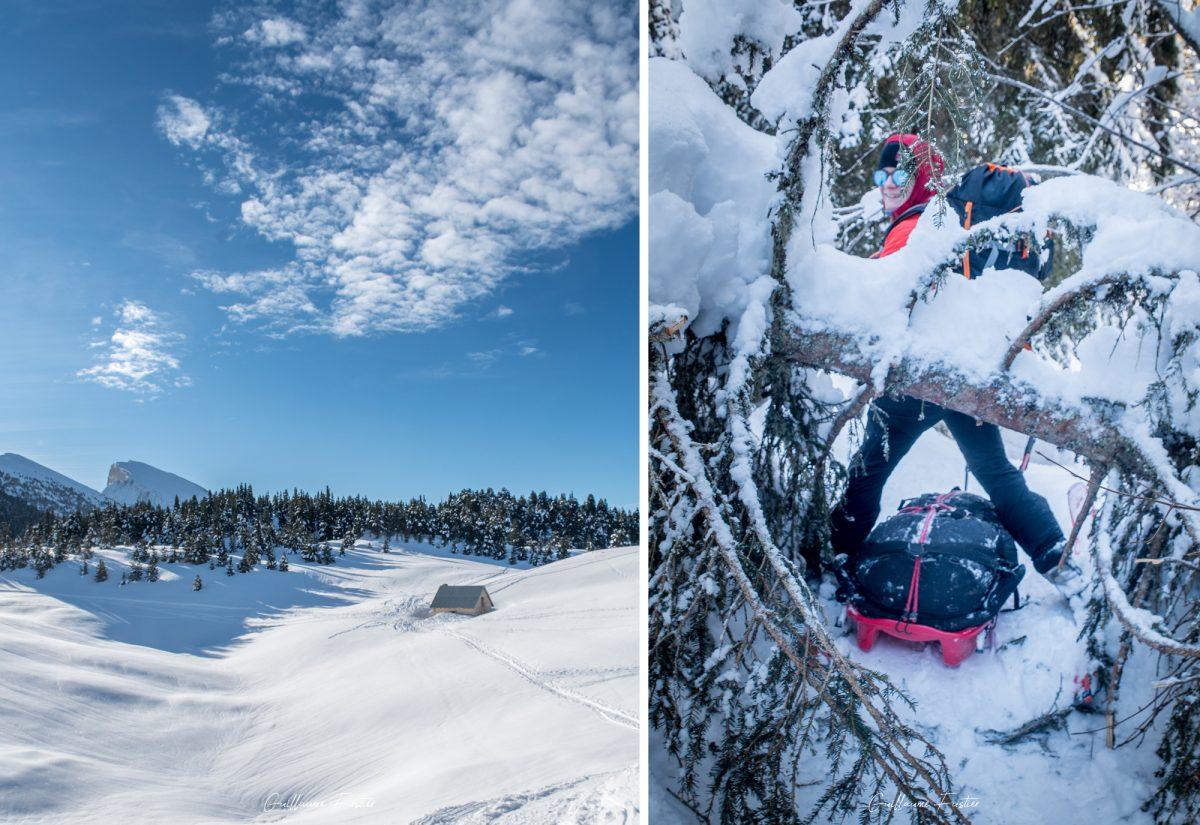 Grande Traversée Hauts-Plateaux du Vercors à ski Hiver Neige Paysage Montagne Isère Alpes France Outdoor French Alps Mountain Landscape Winter Snow Wild Ski Touring