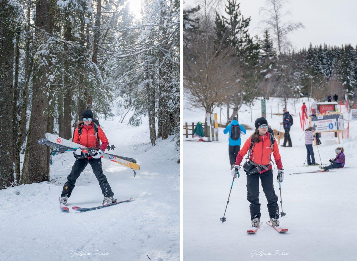 ski de fond du domaine nordique de Corrençon-en-Vercors Massif du Vercors à ski Hiver Neige Paysage Montagne Isère Alpes France Outdoor French Alps Mountain Landscape Winter Snow Ski Touring