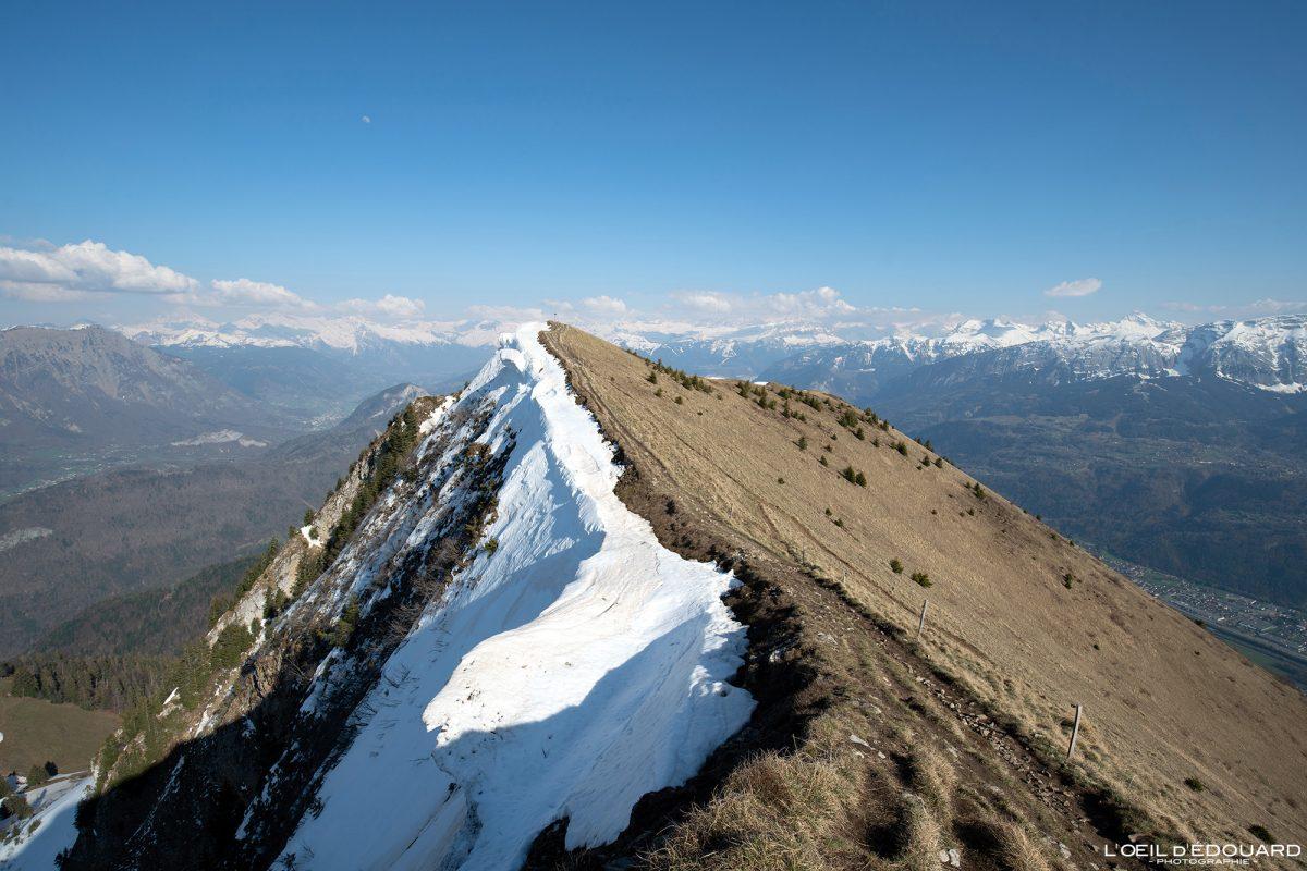 Sommet Le Môle Massif du Chablais Haute-Savoie Alpes France Randonnée Montagne Paysage Outdoor French Alps Cross summit Mountain Landscape Hike Hiking