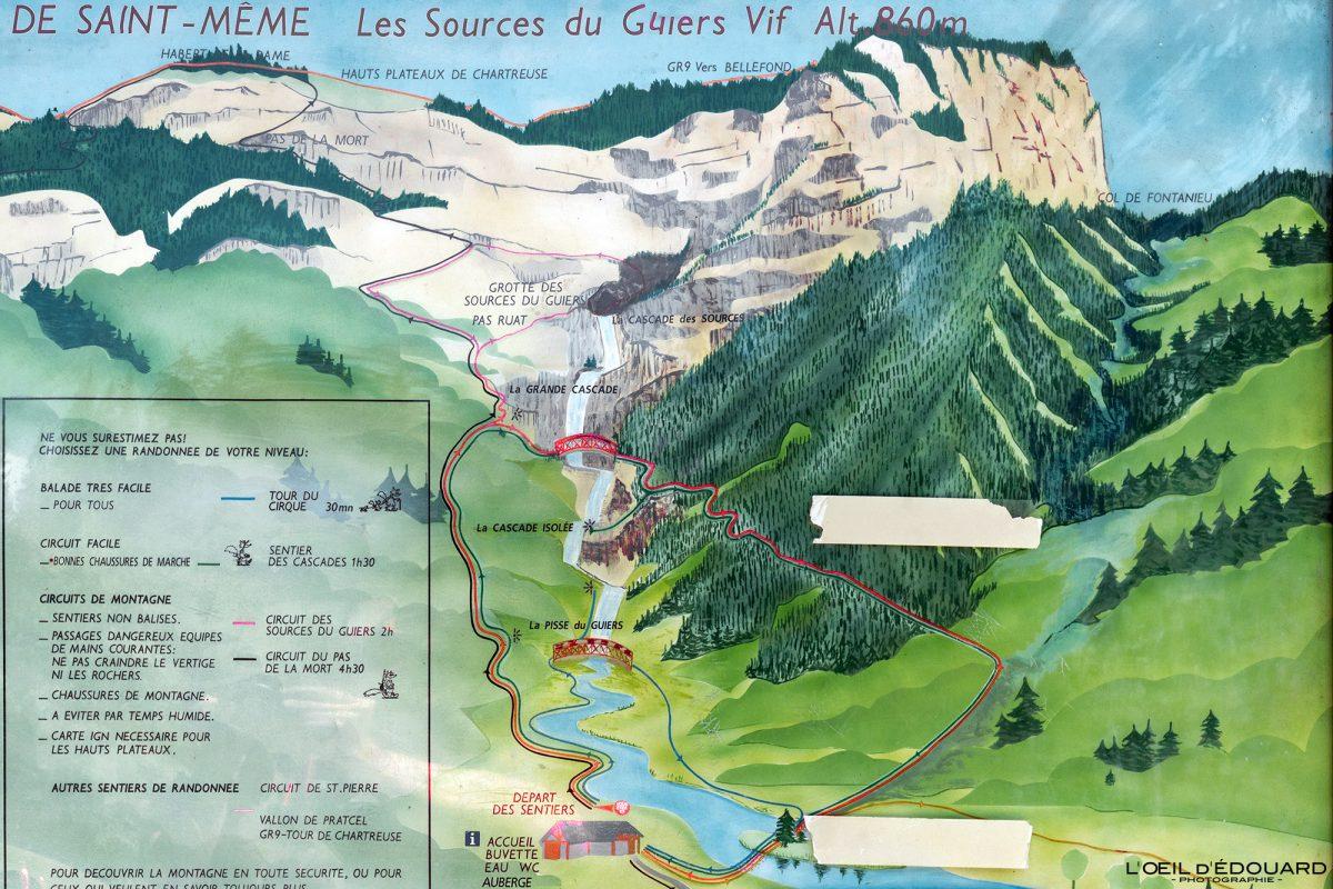 Itinéraires circuits Randonnée Cirque de Saint-Même Massif de la Chartreuse Savoie Isère Alpes France Randonnée Montagne Paysage Outdoor French Alps Mountain Hike Hiking Trail