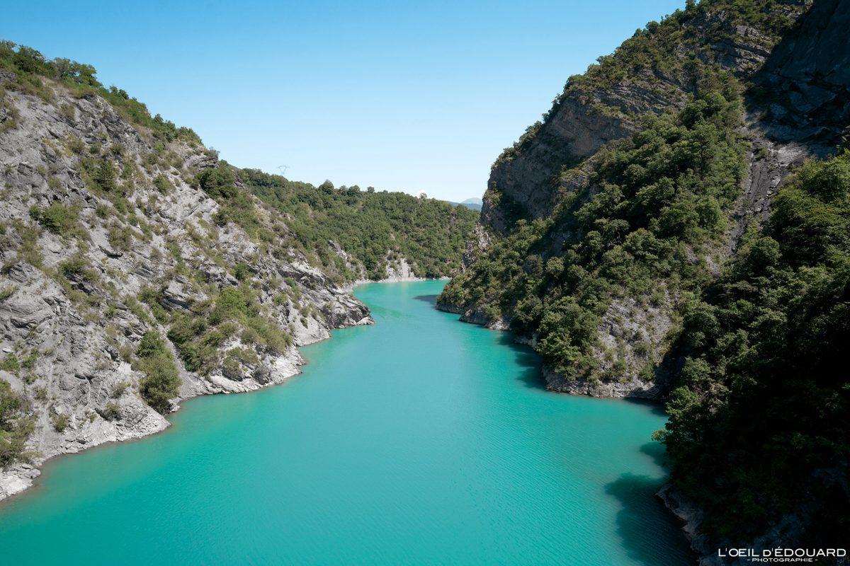 Passerelle Himalayenne du Drac Lac de Monteynard Avignonet Trièves Isère Alpes France Outdoor French Alps River Landscape
