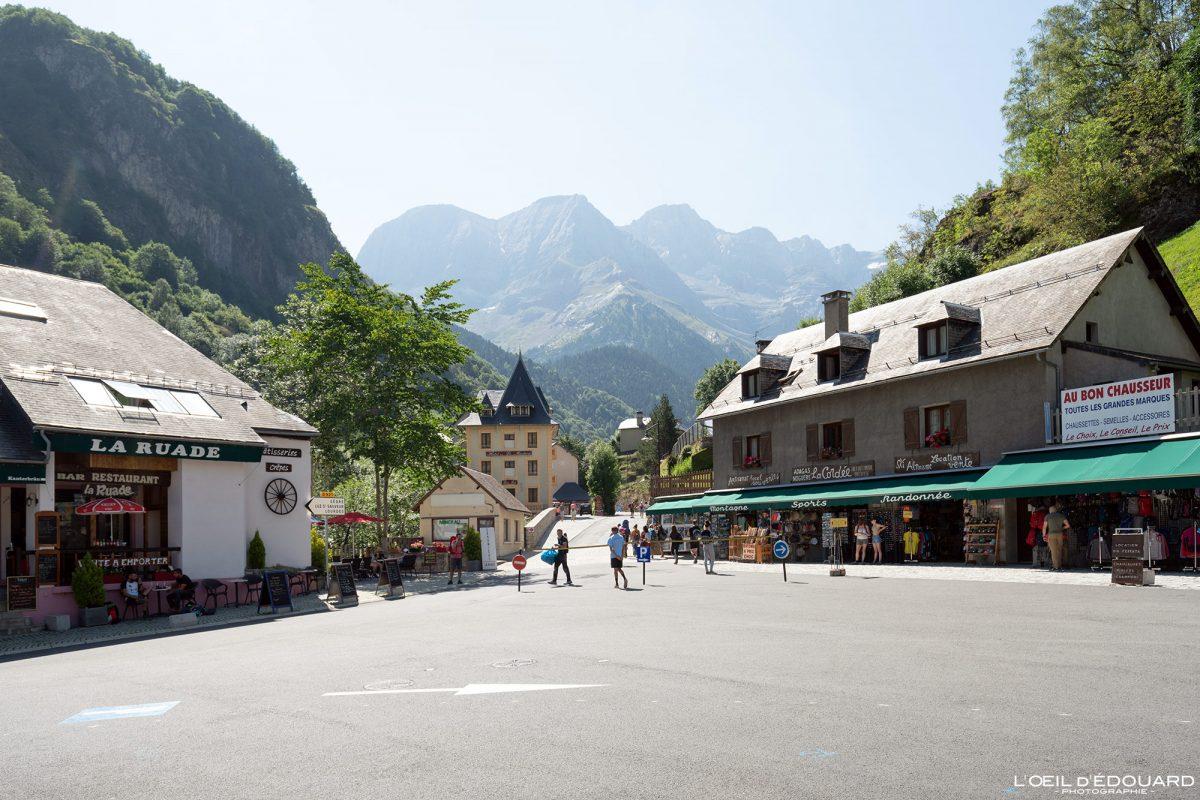 Rue Gavarnie Pyrénées France Village de Montagne Mountain