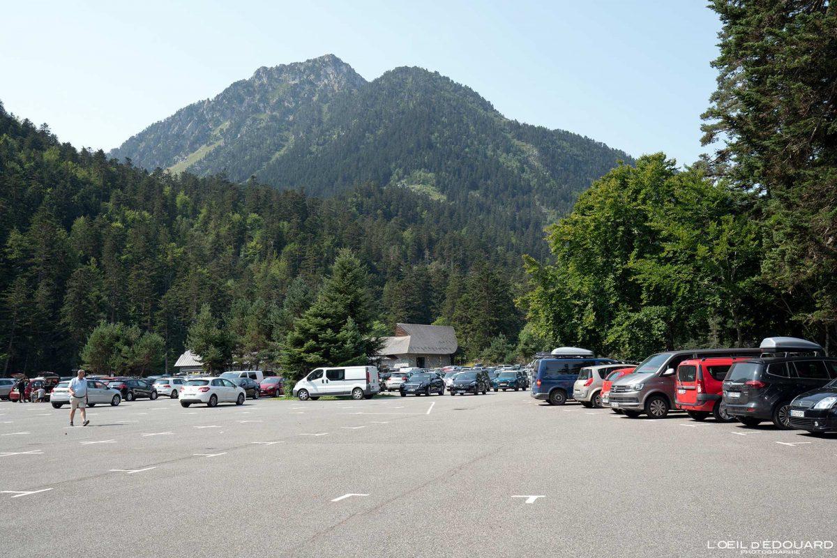 Parking du Puntas Station de ski Cauterets Pyrénées France
