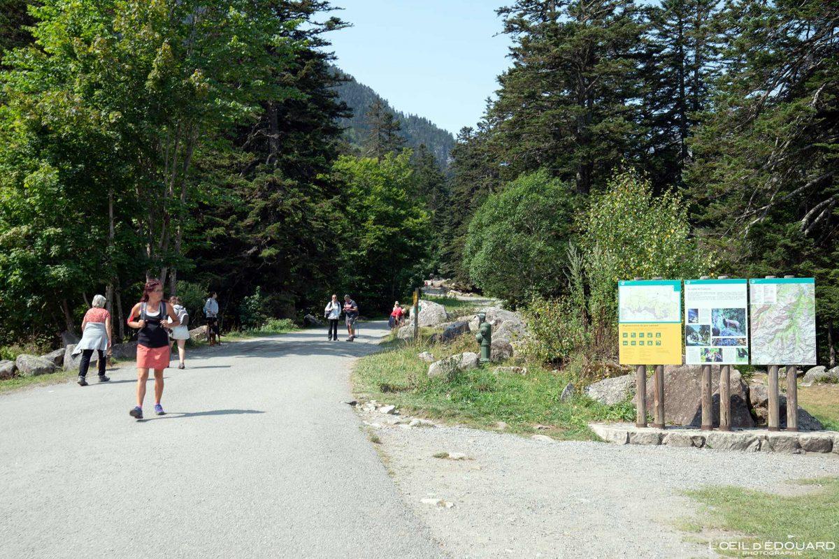 Sentier randonnée Puntas Station de ski Cauterets Pyrénées France Outdoor Hiking Trail Hike