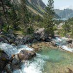 Cascade Lac de Gaube Cauterets Randonnée Pyrénées France Paysage Montagne Outdoor Waterfall Mountain Landscape