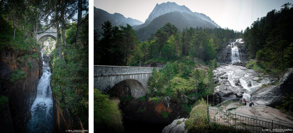 Pont d'Espagne Cauterets Pyrénées France Paysage Montagne Outdoor Forest Mountain Waterfall Landscape Bridge