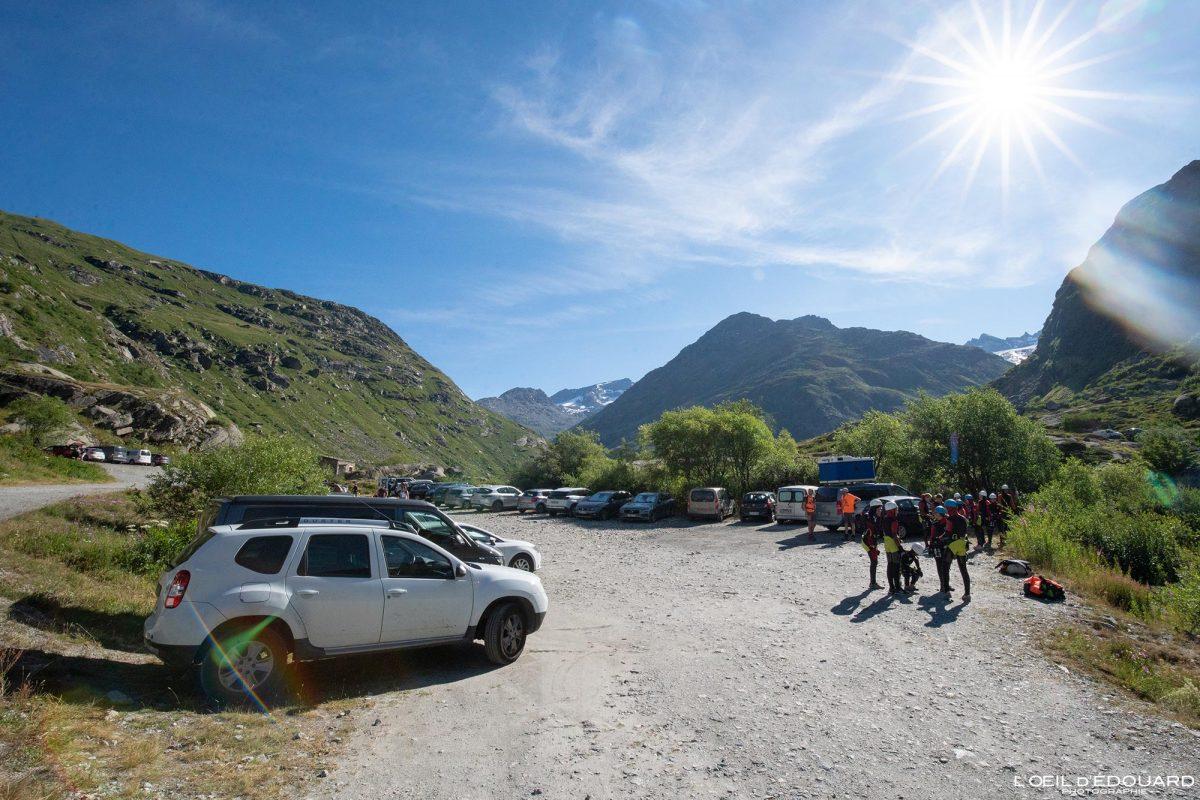 Parking Pont Saint-Clair L'Écot - Randonnée Refuge du Carro Haute-Maurienne Savoie Alpes Grées France Paysage Montagne Outdoor French Alps Mountain Landscape Hike Hiking Trail