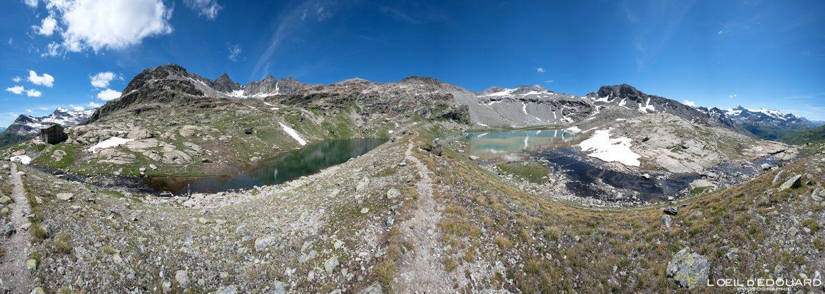 Randonnée Lac Noir Lac Blanc Refuge du Carro Haute-Maurienne Savoie Alpes Grées France Paysage Montagne Outdoor French Alps Mountain Lake Landscape