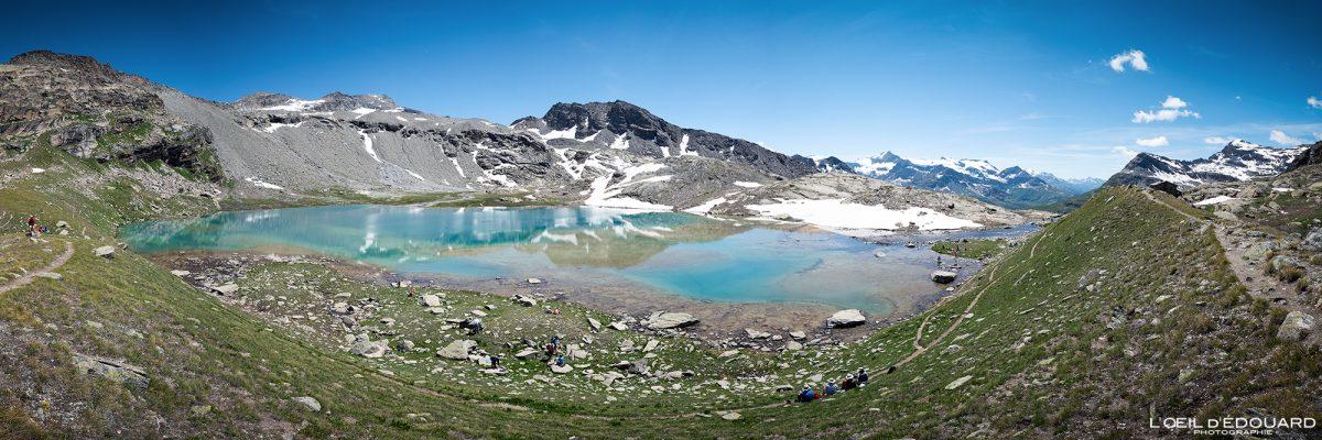 Lac Blanc Refuge du Carro Randonnée Haute-Maurienne Savoie Alpes Grées France Paysage Montagne Outdoor French Alps Mountain Lake Landscape