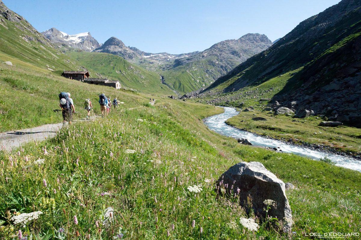 Randonnée Refuge du Carro Rivière Arc Haute-Maurienne Savoie Alpes Grées France Paysage Montagne Outdoor French Alps River Mountain Landscape Hike Hiking Trail