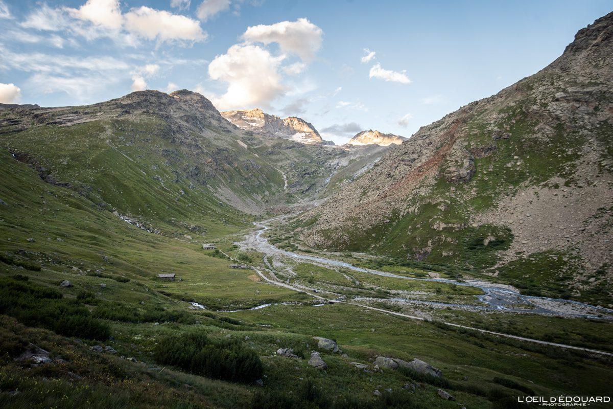 Vallon de la Duis Rivière Arc Haute-Maurienne Savoie Alpes Grées France Paysage Montagne Randonnée Outdoor French Alps River Mountain Landscape