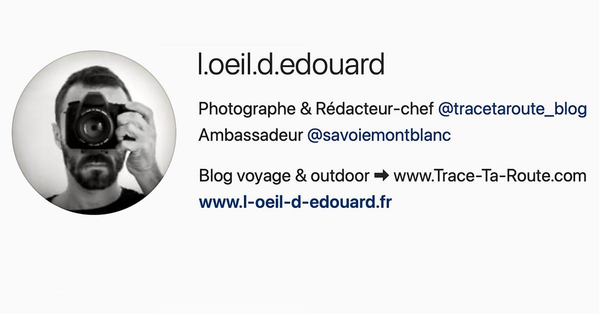 L'Oeil d'Edouard - compte Instagram