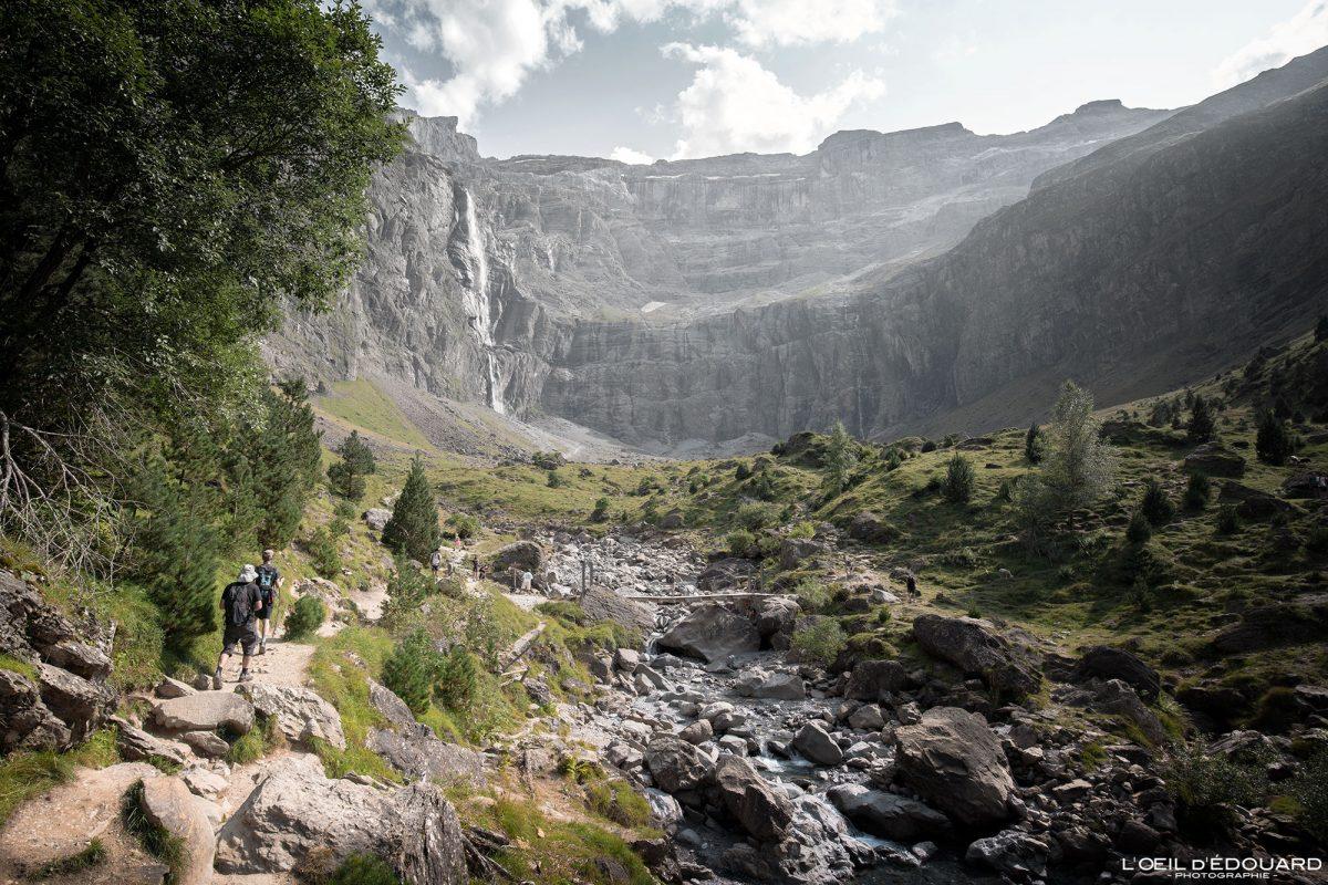 Randonnée Cirque de Gavarnie Pyrénées France Paysage Montagne Outdoor Hiking Mountain Landscape Waterfall